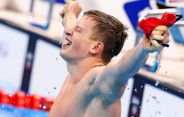 Adam Peaty winning gold at Rio 2016