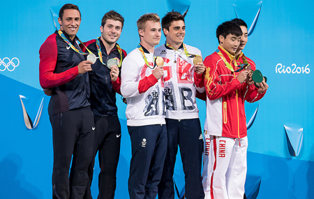 3m synchro men Rio 2016 podium